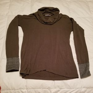 Olive green cowl neck shirt